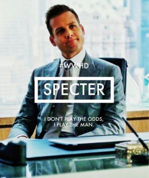 ... Specter is not impressed.[Photo: harveyspectacles | Quote: tvfanatic