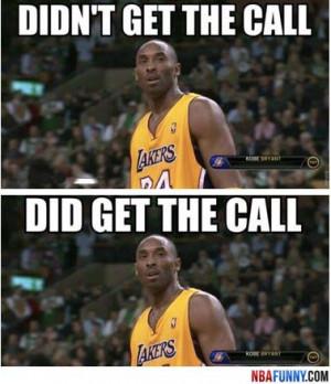 Kobe Bryant's facial expression