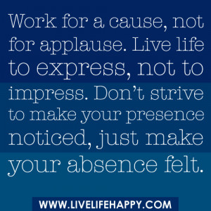 work for a cause quote