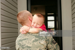 Military Father and Son : Stock Photo