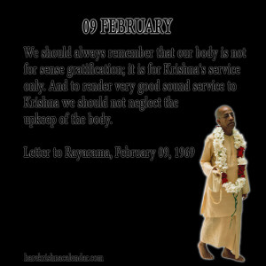 quotes of Srila Prabhupada, which he spock in the month of February ...