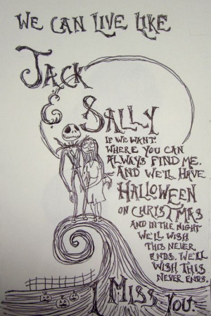 Jack and Sally. Love this song. Blink182