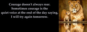 Courage doesn't always roar Facebook Cover