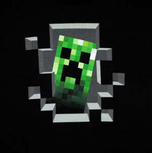 Minecraft Creeper Inside Funny Video Game T Shirt Tee