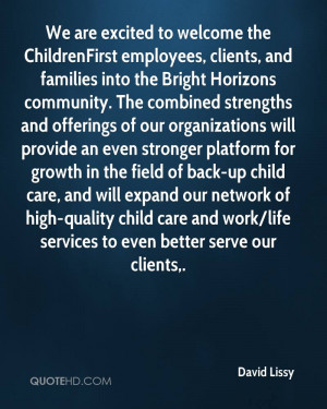 We are excited to welcome the ChildrenFirst employees, clients, and ...