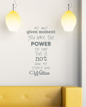 moment Power Story Vinyl Decor Wall Subway art Lettering Words Quotes ...
