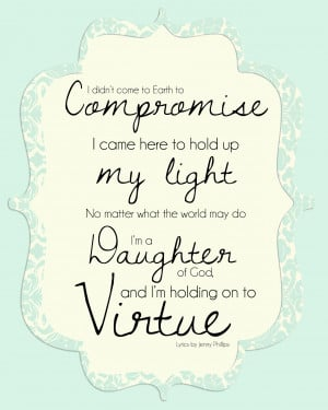 FREE {Virtue Printable} for Young Women- Jenny Phillips Lyrics