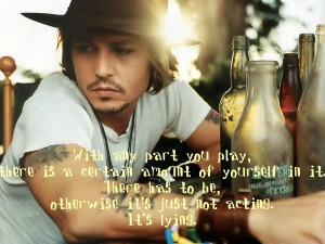 Johnny Depp Quote - With any part you play