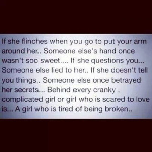 girl who is tired of being broken