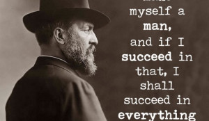 Famous Quote Poster: James A. Garfield – I mean to make myself a man