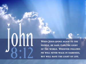 John 8:12 Scripture Sky Picture HD Wallpaper With Bible verse ...