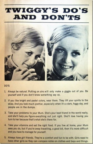 10. Twiggy's quotes transcribed from Twiggy: Her Mod Mod Teen World ...
