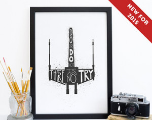 Star Wars Print - X-Wing Fighter - Yoda Quote - Geek Print - Star Wars ...