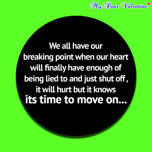Love hurts quotes - We all have our breaking point