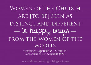 Women of the Church are [to be] seen as distinct and different —in ...