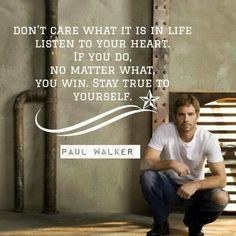 Thank you, Paul Walker. I still find it sad and unfair that he's gone ...