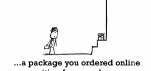 Happiness is, a package you ordered online.