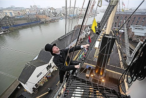 Great views of Bristol from SS Great Britain's rigging