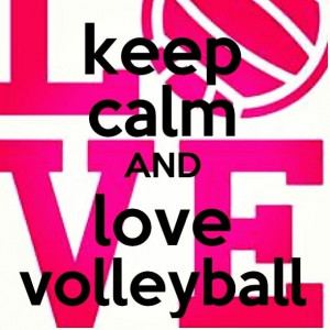 Keep calm and love volleyball