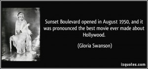 Boulevard opened in August 1950, and it was pronounced the best movie ...