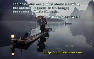 ... realist adjusts the sails.