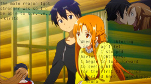 Showing Gallery For Asuna and Kirito Love Quotes