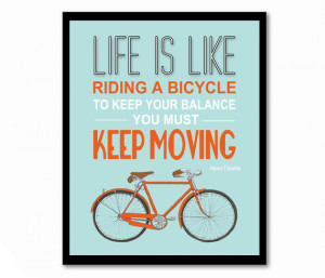 Bicycle Art Poster Leaving
