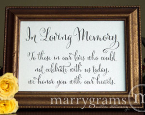 In Loving Memory Quotes In loving memory sign table