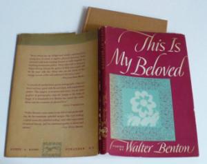 Vintage Book This is my Beloved by Walter Benton Poetry Verse 1949 ...