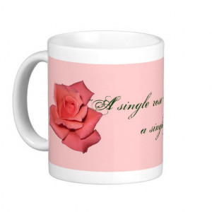 Vintage Elegant Pink Red Roses Pattern Coffee Mug