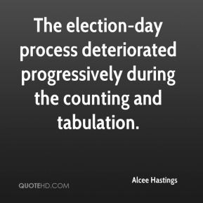 alcee hastings quote the election day process deteriorated jpg