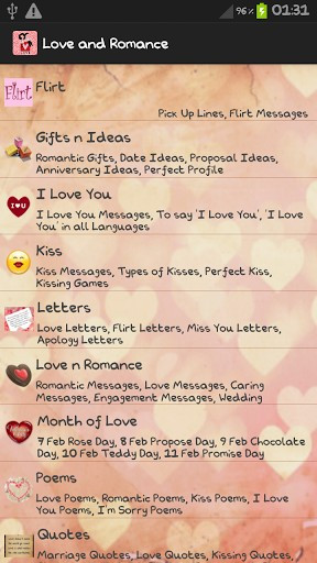View bigger - Love Letters & Romantic Quotes for Android screenshot