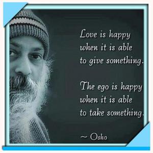 Osho Quote Love Happy When...