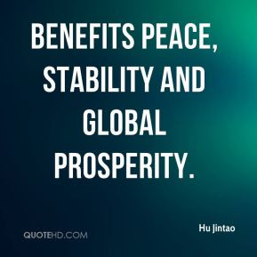 benefits peace, stability and global prosperity.