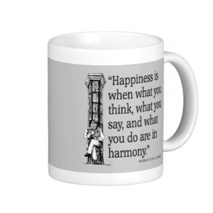 Gandhi Mohandas Mahatma Quote Happiness Quotes Mug