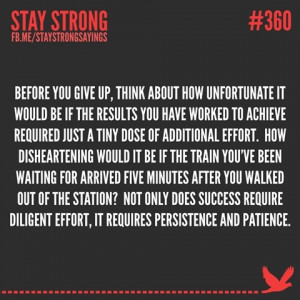 Persistence and patience...