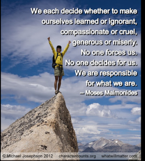 QUOTE & POSTER: We each decide whether to make ourselves learned or ...