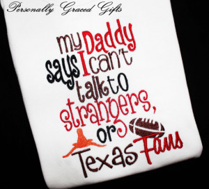 Oklahoma OU Sooners Embroidered Shirt or Bodysuit: My Daddy Says I can ...