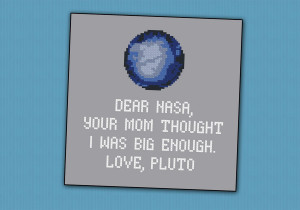 Home Products Cross Stitch Patterns Science Patterns Pluto funny quote