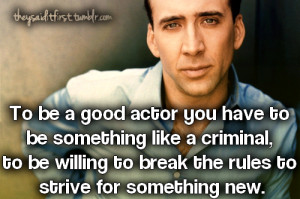 Nicolas Cage - submitted by Anonymous