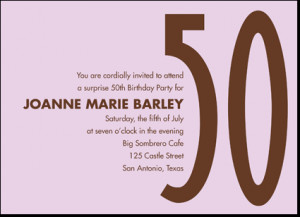 Home / Nifty Fifty Birthday Party Invitations