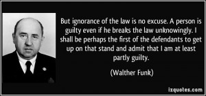 ignorance of law