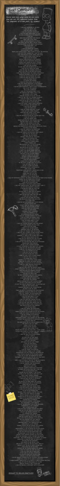 Bart's Chalkboard quotes