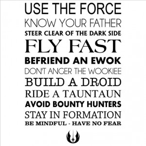 Star Wars Rules Wall Decal vinyl lettering