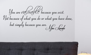 Max Lucado You are... Wall Decal Quotes