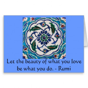 Rumi Quote - famous poet and sufi mystic Greeting Card