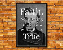 Faith — Friedrich Nietzsche Quote | 13 x 19 in. Borderless ...