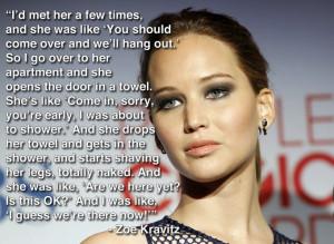 Jennifer Lawrence quote Zoe Kravitz