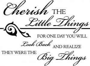 Cherish the little things - Vinyl Wall Decal FAM4