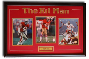 Ronnie Lott quot The Hit Man quot singed 8x10 picture framed
